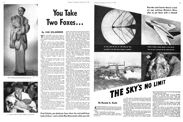 Article Preview: THE SKY'S NO LIMIT, January 1947 | Maclean's