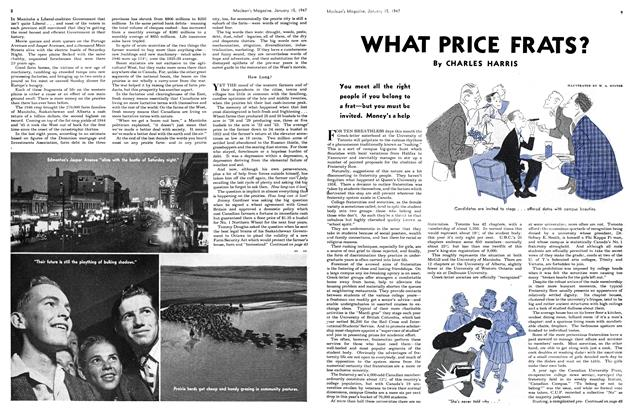 Article Preview: WHAT PRICE FRATS?, January 1947 | Maclean's