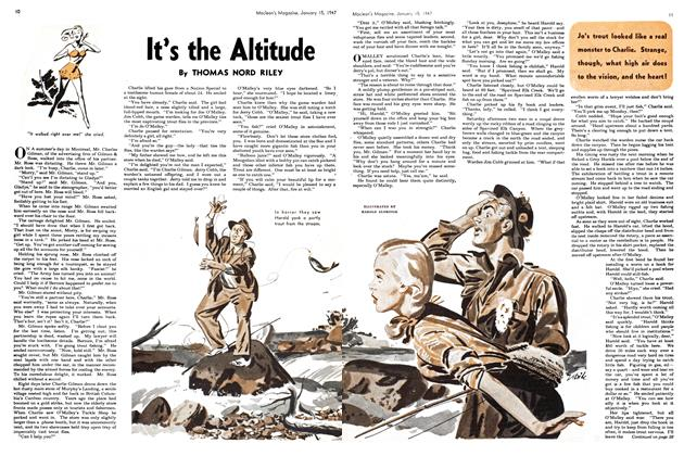 Article Preview: It's the Altitude, January 1947 | Maclean's