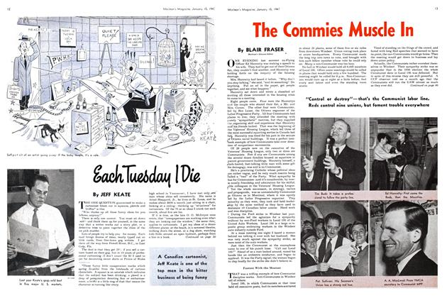 Article Preview: The Commies Muscle In, January 1947 | Maclean's