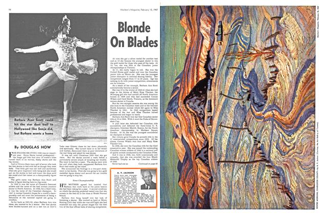 Article Preview: Blonde On Blades, February 1947 | Maclean's