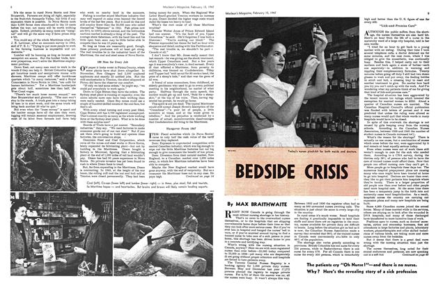 Article Preview: BEDSIDE CRISIS, February 1947 | Maclean's