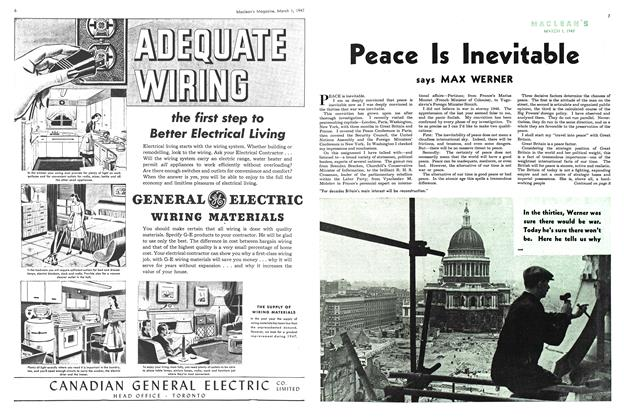 Article Preview: Peace Is Inevitable, March 1947 | Maclean's