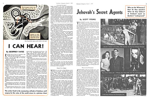Article Preview: Jehovah's Secret Agents, March 1947 | Maclean's
