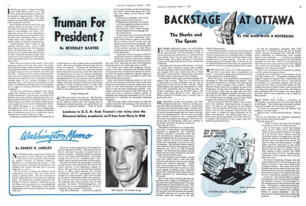 Article Preview: BACKSTAGE AT OTTAWA, March 1947 | Maclean's