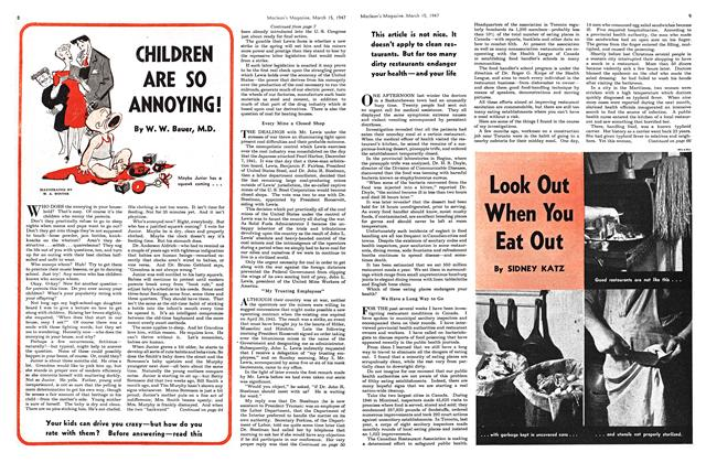 Article Preview: CHILDREN ARE SO ANNOYING!, March 1947 | Maclean's