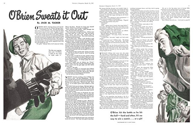 Article Preview: O'Brien Sweats it Out, March 1947 | Maclean's