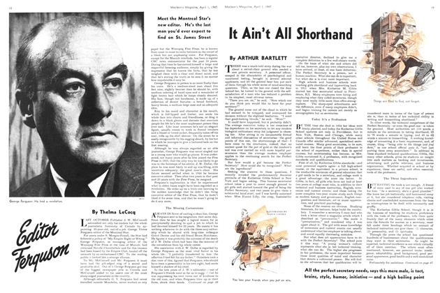 Article Preview: Editor Ferguson, April 1947 | Maclean's