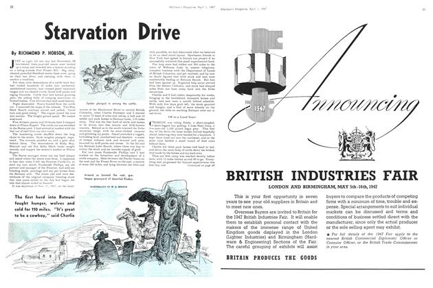 Article Preview: Starvation Drive, April 1947 | Maclean's