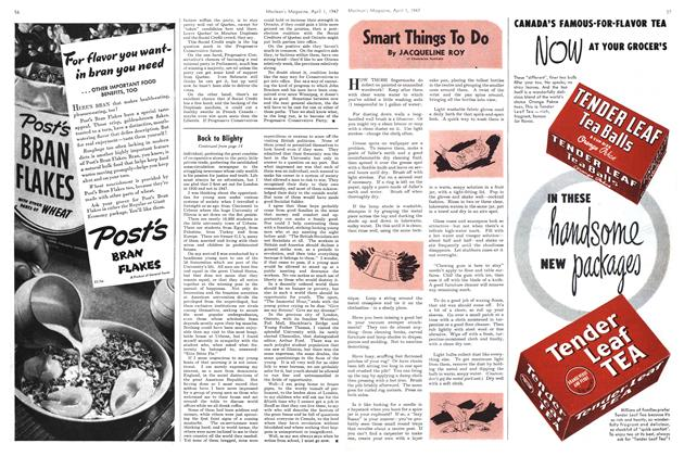 Article Preview: Smart Things To Do, April 1947 | Maclean's