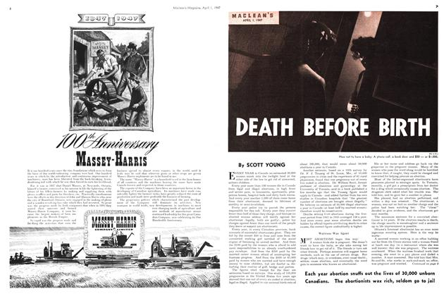 Article Preview: DEATH BEFORE BIRTH, April 1947 | Maclean's