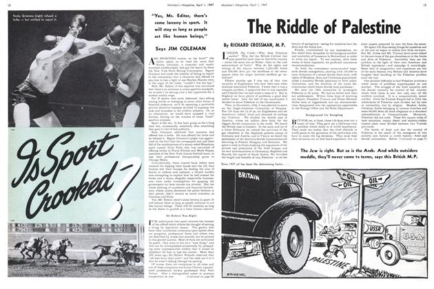 Article Preview: The Riddle of Palestine, April 1947 | Maclean's