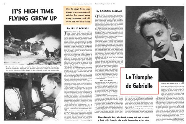 Article Preview: Le Triomphe de Gabrielle, April 1947 | Maclean's