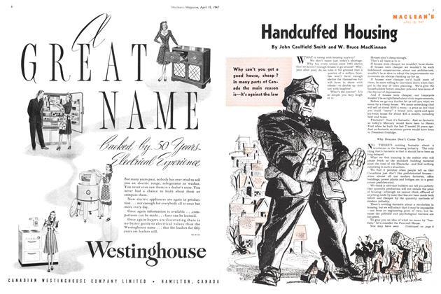Article Preview: Handcuffed Housing, April 1947 | Maclean's
