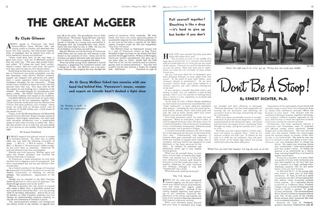 Article Preview: THE GREAT McGEER, April 1947 | Maclean's