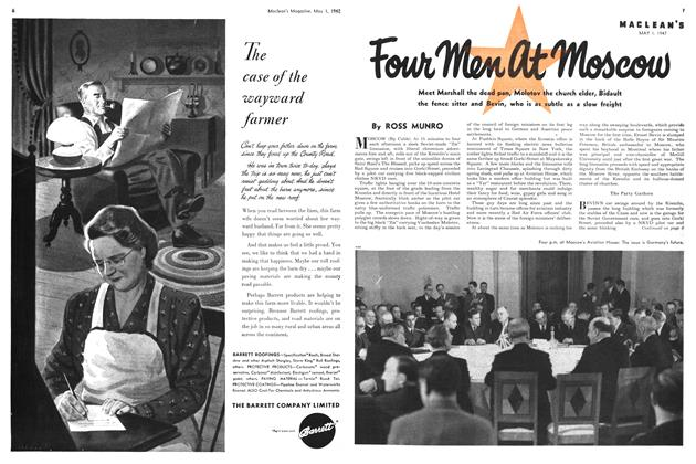 Article Preview: Four men at Moscow, May 1947 | Maclean's