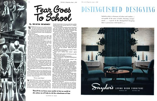 Article Preview: Fear Goes To School, June 1947 | Maclean's