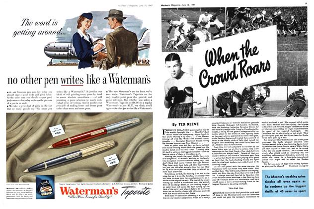 Article Preview: When The Crowd Roars, June 1947   Maclean's