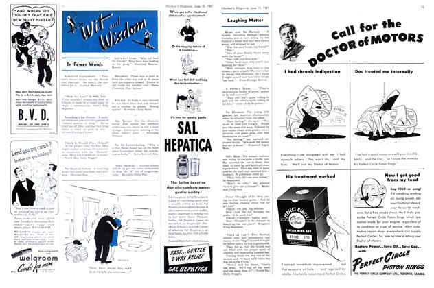 Article Preview: Laughing Matter, June 1947 | Maclean's
