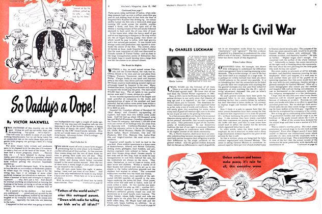 Article Preview: Labor War Is Civil War, June 1947 | Maclean's