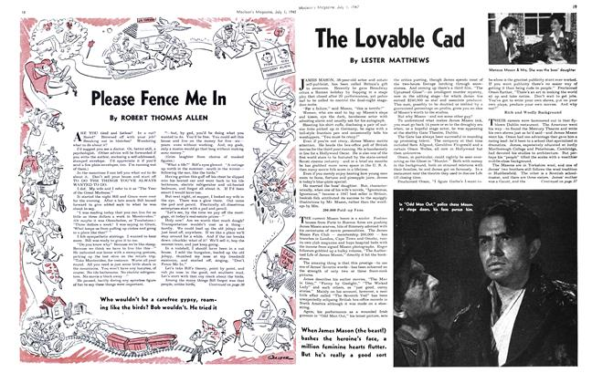 Article Preview: The Lovable Cad, July 1947 | Maclean's