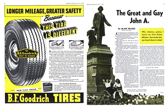 Article Preview: The Great and Gay John A., July 1947 | Maclean's