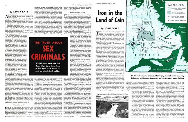 Article Preview: THE TRUTH ABOUT SEX CRIMINALS, July 1947 | Maclean's