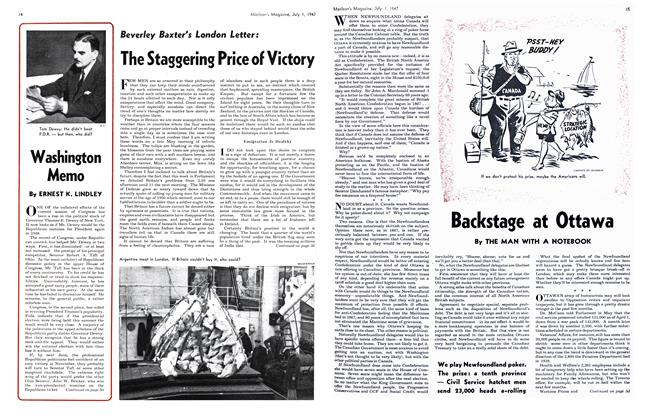 Article Preview: Beverley Baxter's London Letter: The Staggering Price of Victory, July 1947 | Maclean's