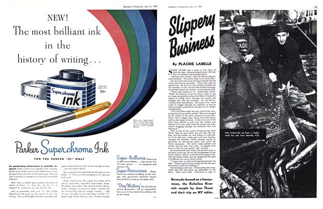 Article Preview: Slippery Business, July 1947 | Maclean's