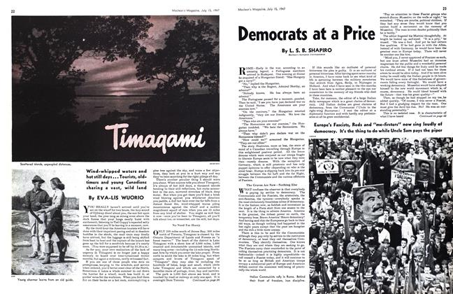 Article Preview: Timaqami, July 1947 | Maclean's