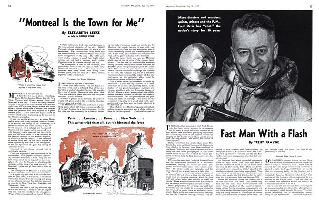 Article Preview: Fast Man With a Flash, July 1947 | Maclean's