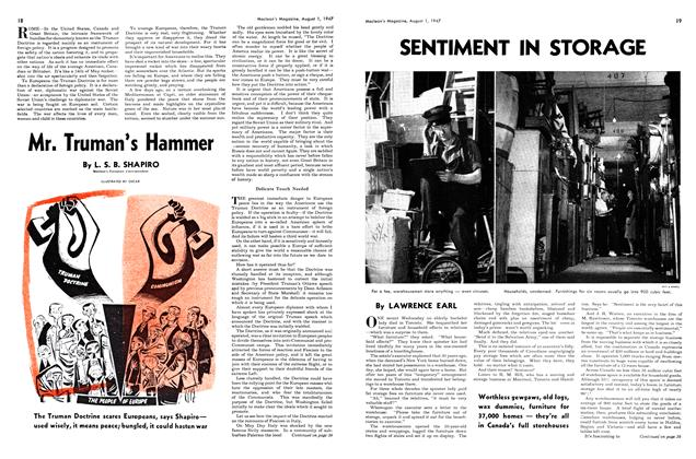 Article Preview: SENTIMENT IN STORAGE, August 1947 | Maclean's