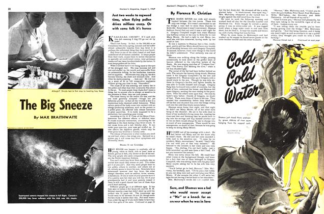 Article Preview: The Big Sneeze, August 1947 | Maclean's