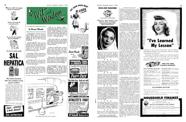 Article Preview: In Fewer Words, August 1947 | Maclean's