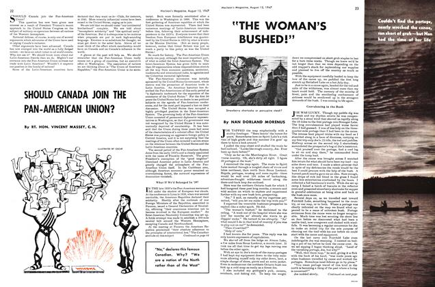"Article Preview: ""THE WOMAN'S BUSHED!"", August 1947 