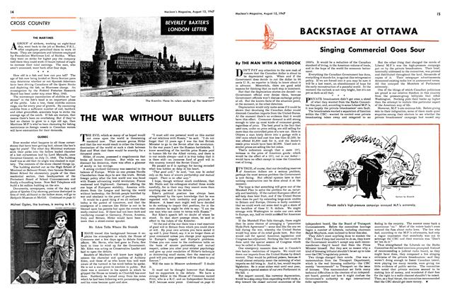 Article Preview: BACKSTAGE AT OTTAWA, August 1947   Maclean's