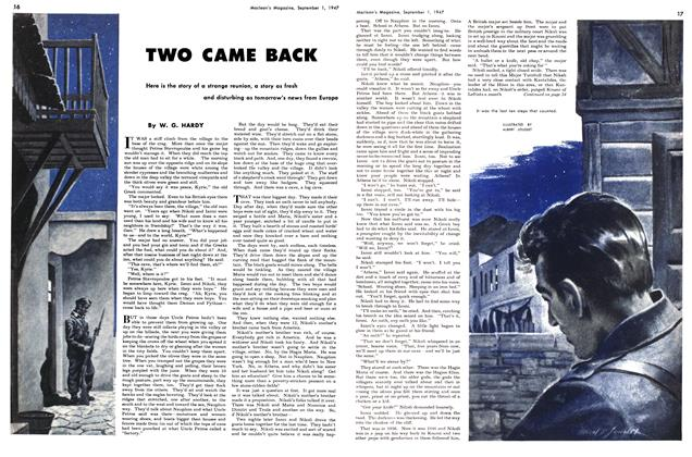 Article Preview: TWO CAME BACK, September 1947 | Maclean's