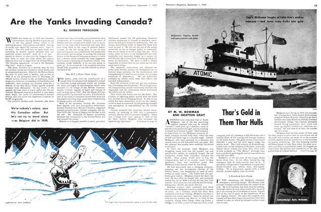 Article Preview: Are the Yanks Invading Canada?, September 1947 | Maclean's