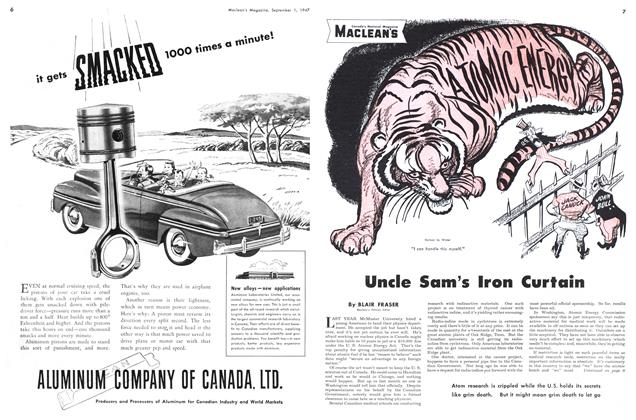 Article Preview: Uncle Sam's Iron Curtain, September 1947   Maclean's