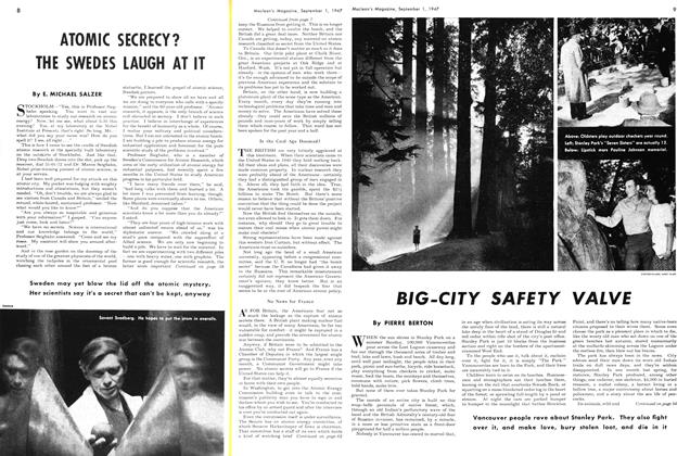 Article Preview: BIG-CITY SAFETY VALVE, September 1947 | Maclean's