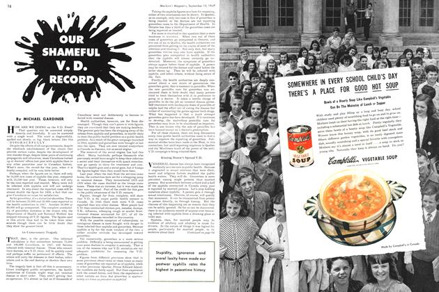 Article Preview: OUR SHAMEFUL V.D. RECORD, September 1947 | Maclean's