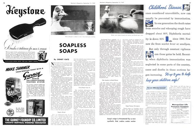 Article Preview: SOAPLESS SOAPS, September 1947 | Maclean's