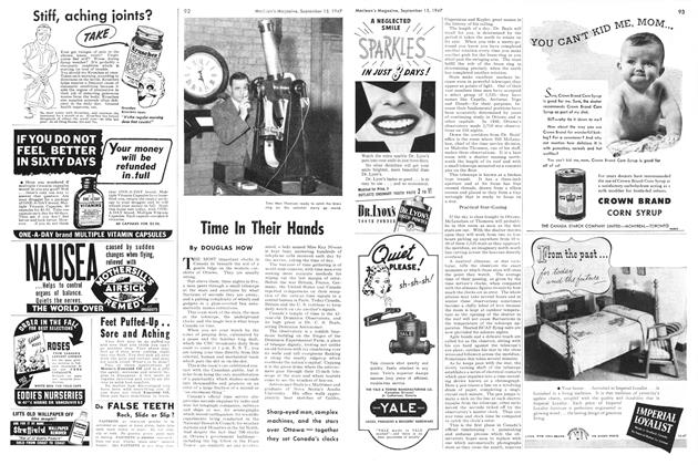 Article Preview: Time In Their Hands, September 1947 | Maclean's