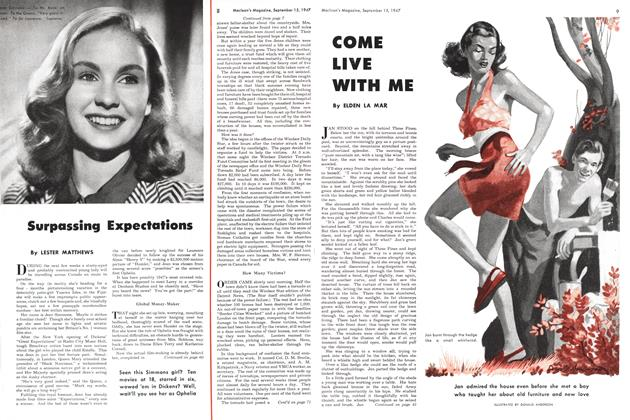 Article Preview: Surpassing Expectations, September 1947 | Maclean's