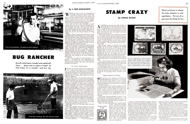 Article Preview: STAMP CRAZY, October 1947 | Maclean's