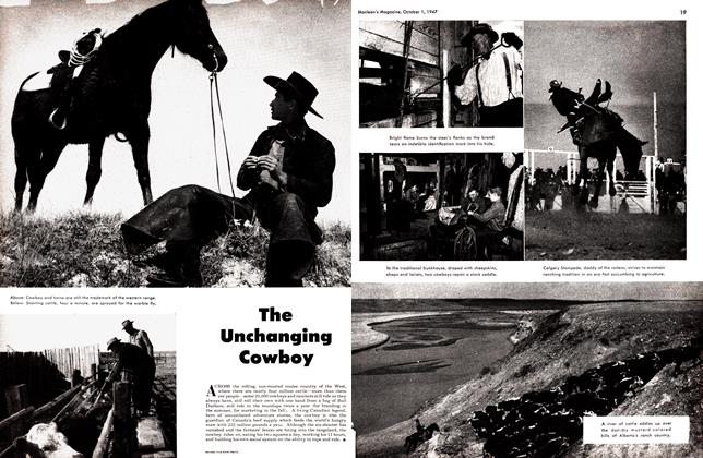 Article Preview: The Unchanging Cowboy, October 1947 | Maclean's