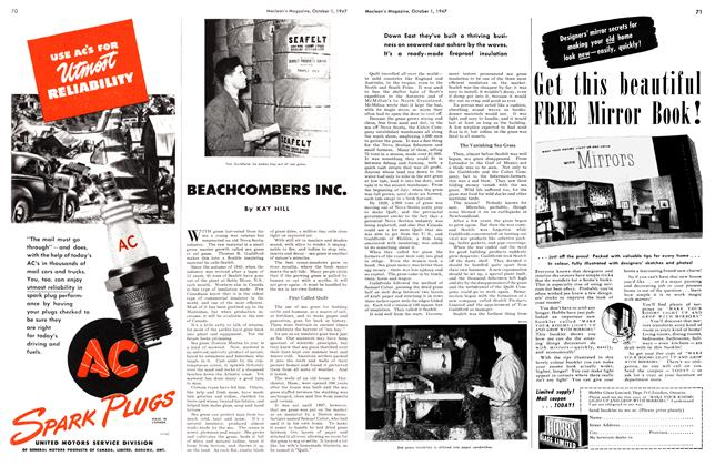 Article Preview: BEACHCOMBERS INC., October 1947 | Maclean's