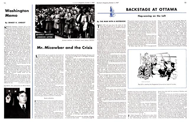 Article Preview: Mr. Micawber and the Crisis, October 1947 | Maclean's