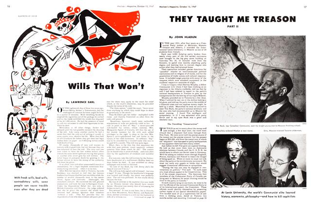 Article Preview: Wills That Won't, October 1947 | Maclean's