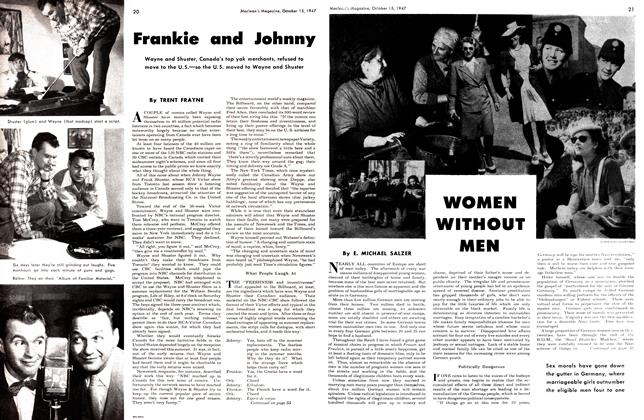 Article Preview: WOMEN WITHOUT MEN, October 1947 | Maclean's
